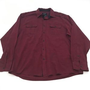 Modern Culture Red Button Down Shirt 3XL
